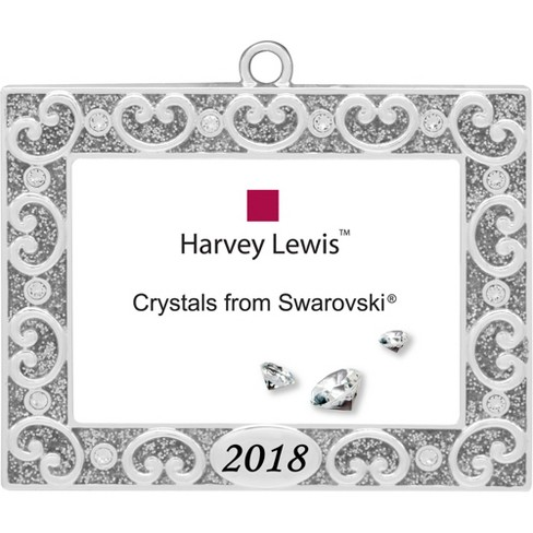 Harvey Lewis 2018 Picture Frame Christmas Ornament with Crystals ...