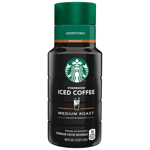 Starbucks Unsweetened Medium Roast Iced Coffee 48 Fl Oz