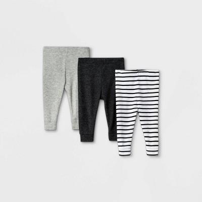 Baby 3pk Pull-On Pants - Cloud Island™ Black 0-3M