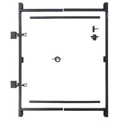 Adjust-A-Gate AG36-3 Steel Frame Anti Sage Gate Building Kit, 36 to 60 Inches Wide Opening Up To 7 Feet High Fence