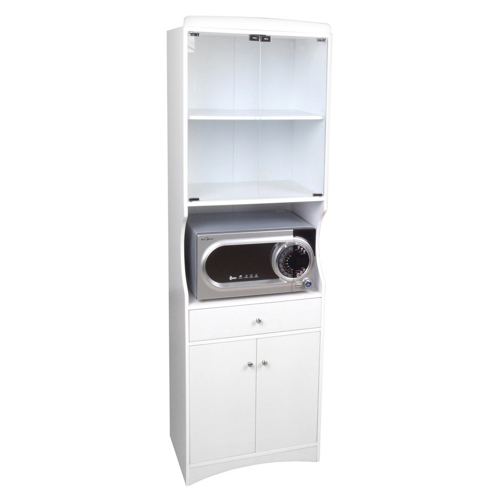Image of Traditional Microwave Cabinet - White - Home Source Industries