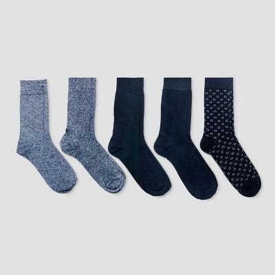 Men's Textured Dress Socks 5pk - Goodfellow & Co™ Gray/Black 10-13