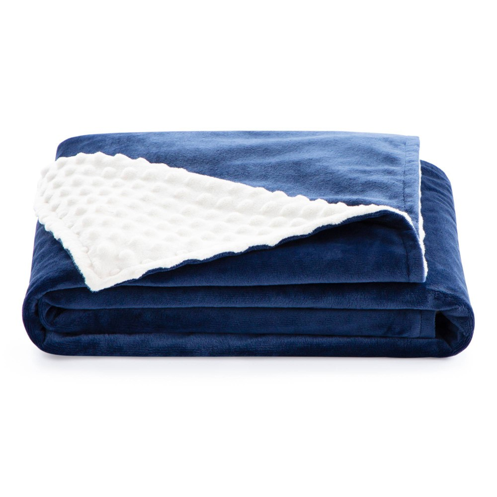 38 34 X 48 34 Comfort Collection Microplush Weighted Blanket Cover Navy Lucid