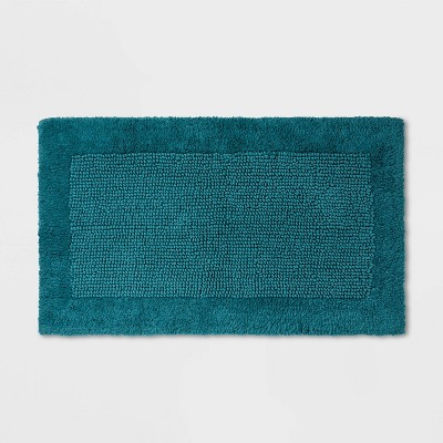 "23""x38"" Performance Textured Bath Rug Turquoise - Threshold™"