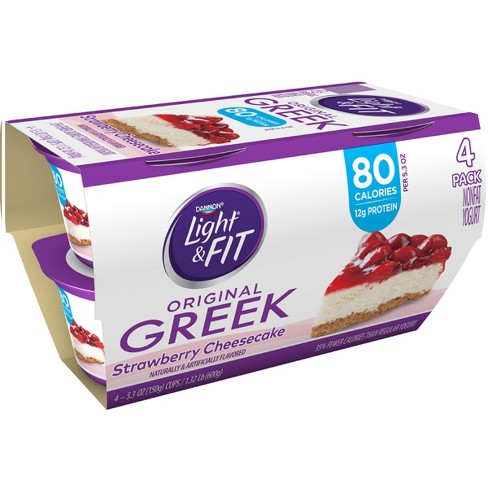 Dannon Light and Fit Strawberry Cheesecake Flavored Greek Yogurt - 4ct/5.3oz - image 1 of 1