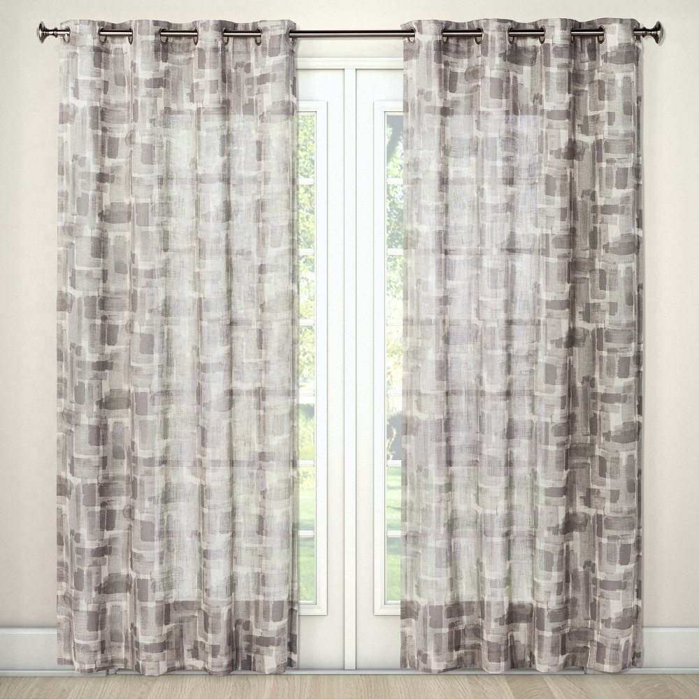 Light Filtering Curtain Panel Brush Stroke Tan 84 - Project 62