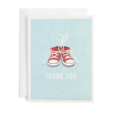 10ct Tiny Sneakers Print Thank You Cards Minted Target