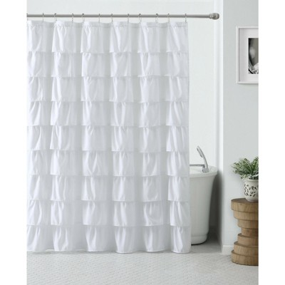 GoodGram Home Gypsy Ombre Ruffled Fabric Shower Curtains