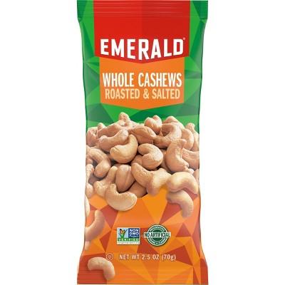 Emerald Roasted & Salted Whole Cashews - 2.5oz