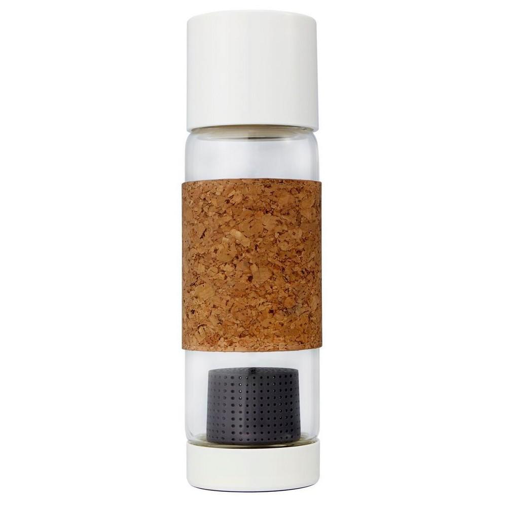 Image of Full Circle Tea Time Travel Bottle 19oz Glass - Gray