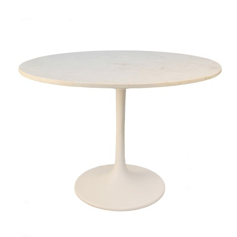 40 Zaha Round Marble Top Dining Table, 40 Round Pedestal Table
