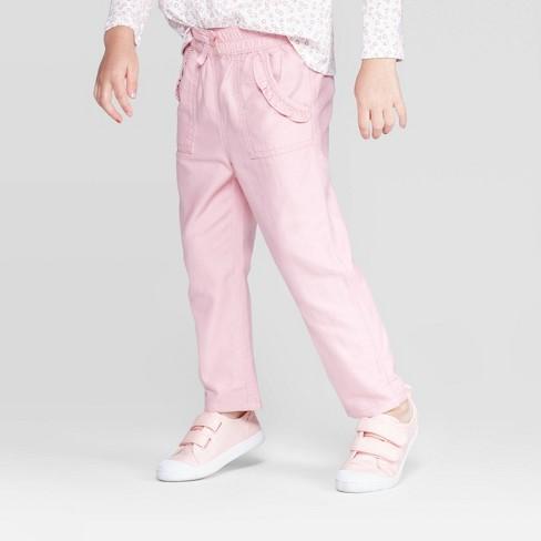 OshKosh B'gosh Toddler Girls' Ruffle Pocket Jogger Pants - Pink - image 1 of 3
