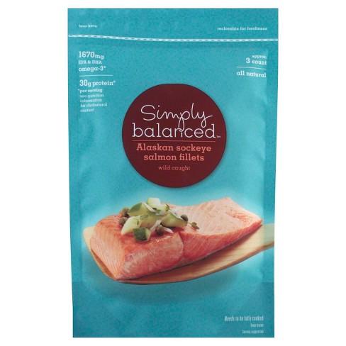 Frozen Alaskan Sockeye Salmon - 16oz - Simply Balanced™