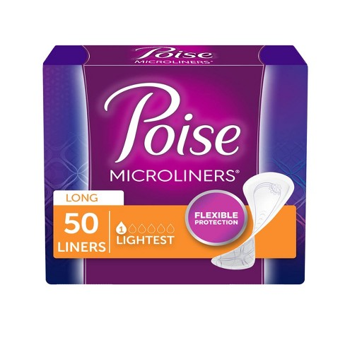 Poise Incontinence Microliner, Lightest Absorbency, Long Length, 50ct - image 1 of 4