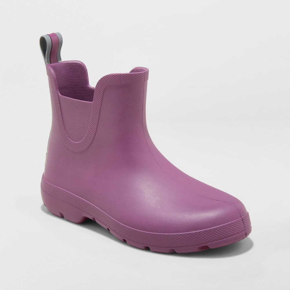 Women's Totes Cirrus Chelsea Short Rain Boots - Purple 6