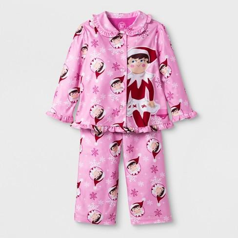 Baby Girls  Elf On The Shelf 2pc Pajama Set - Pink 18M   Target 4456bcf98