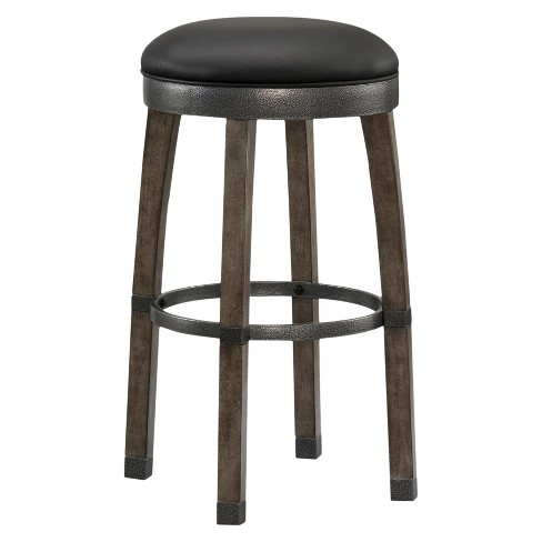 Set of 2 Counter And Bar Stools Brown Gray - Leick Home - image 1 of 8