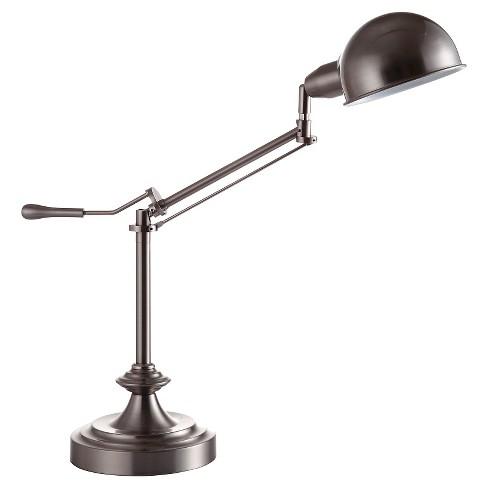 24 5 Traditional Modern Metal Desk Desk Study Lamp Silver Ore International Target