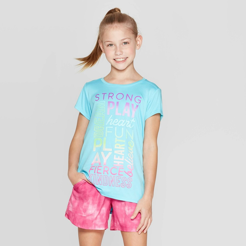 69c3dac0f933 Girls Graphic Tech T Shirt C9 Champion Blue S