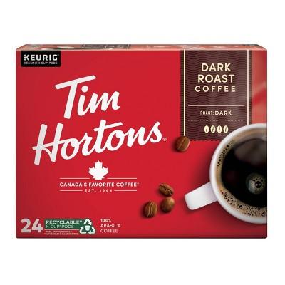 Tim Hortons Dark Roast Coffee - Keurig K-Cup Pods - 24ct