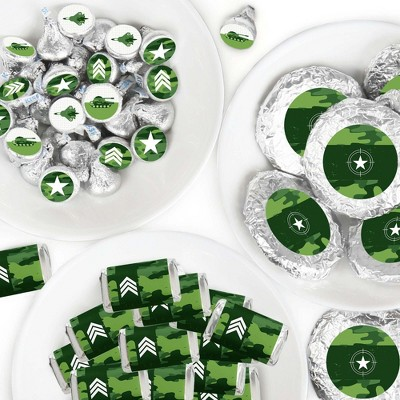Big Dot of Happiness Camo Hero - Army Military Camouflage Party Candy Favor Sticker Kit - 304 Pieces