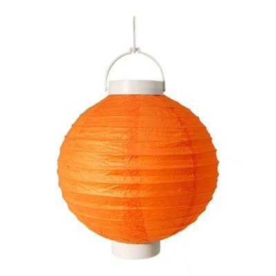 3ct Orange Battery Operated Paper Lantern
