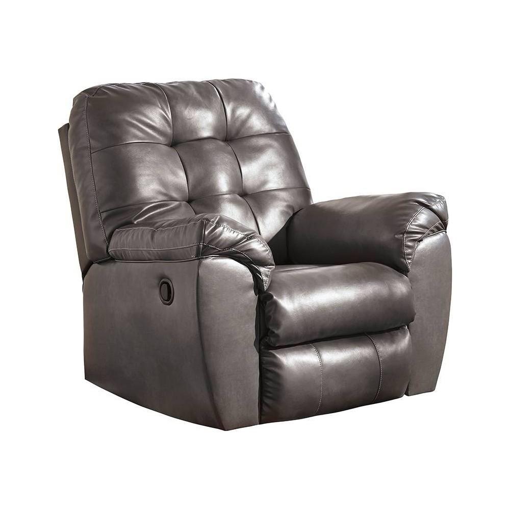 Image of Alliston Rocker Recliner In Durablend Gray - Flash Furniture