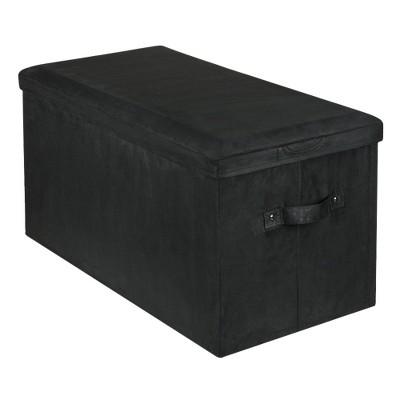 Yu Shan Seat Pad Storage Bench Black