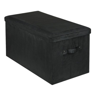 Yu Shan Seat Pad Storage Bench Black