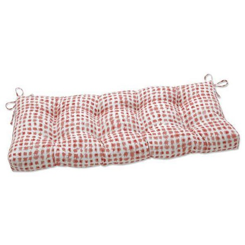 """48"""" x 18"""" Outdoor Tufted Bench/Swing Cushion Alauda Coral Isle Red - Pillow Perfect - image 1 of 1"""