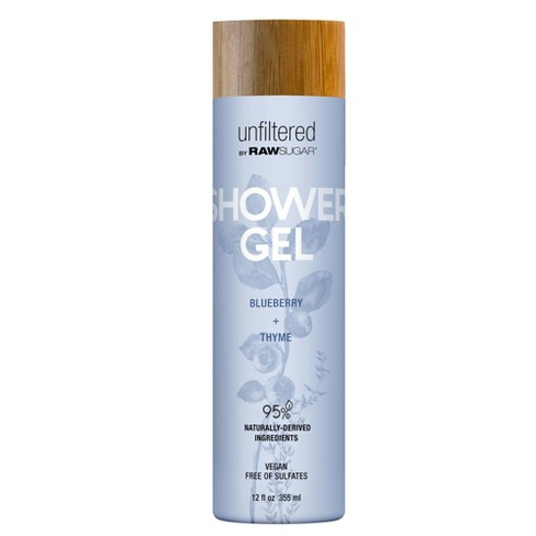 Unfiltered By Raw Sugar Blueberry and Thyme Shower Gel - 12 fl oz - image 1 of 3