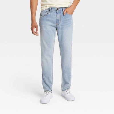 Men's Athletic Fit Relaxed Jeans - Goodfellow & Co™ Light Wash