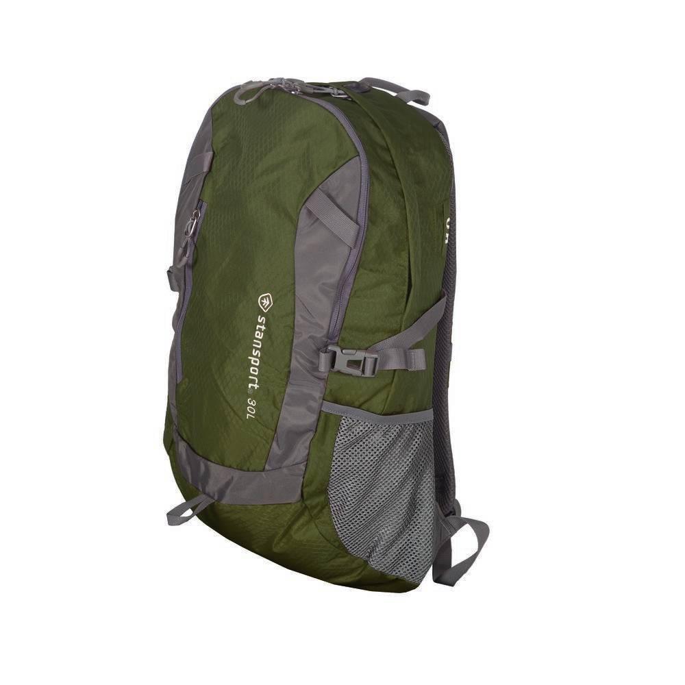 Stansport 30L Daypack Backpack - Olive Green, Olive Drab