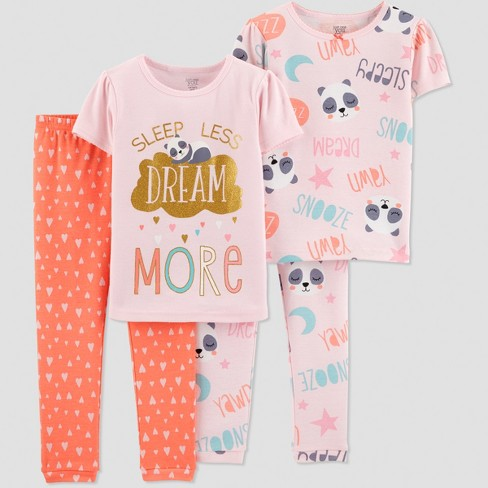 3d57d2d06 Baby Girls' 4pc Dream More Panda Pajama Set - Just One You® Made By ...
