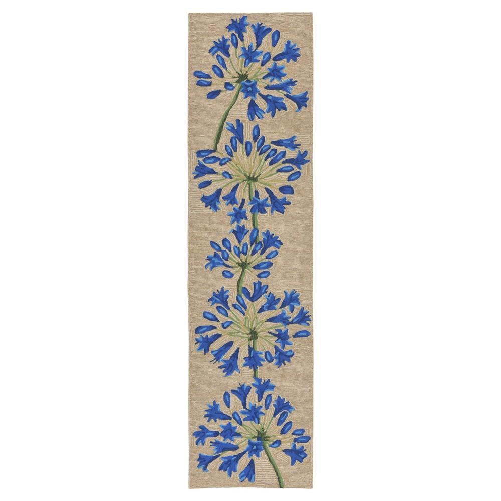 Natural Floral Tufted Runner 2'x8' - Liora Manne