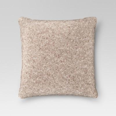 Tan Sweaterknit Oversized Throw Pillow - Threshold™