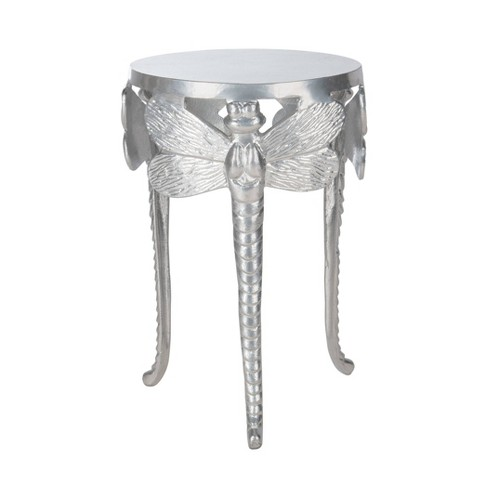 Melika Dragonfly Legs Accent Table Distressed Gold/White - Safavieh - image 1 of 4