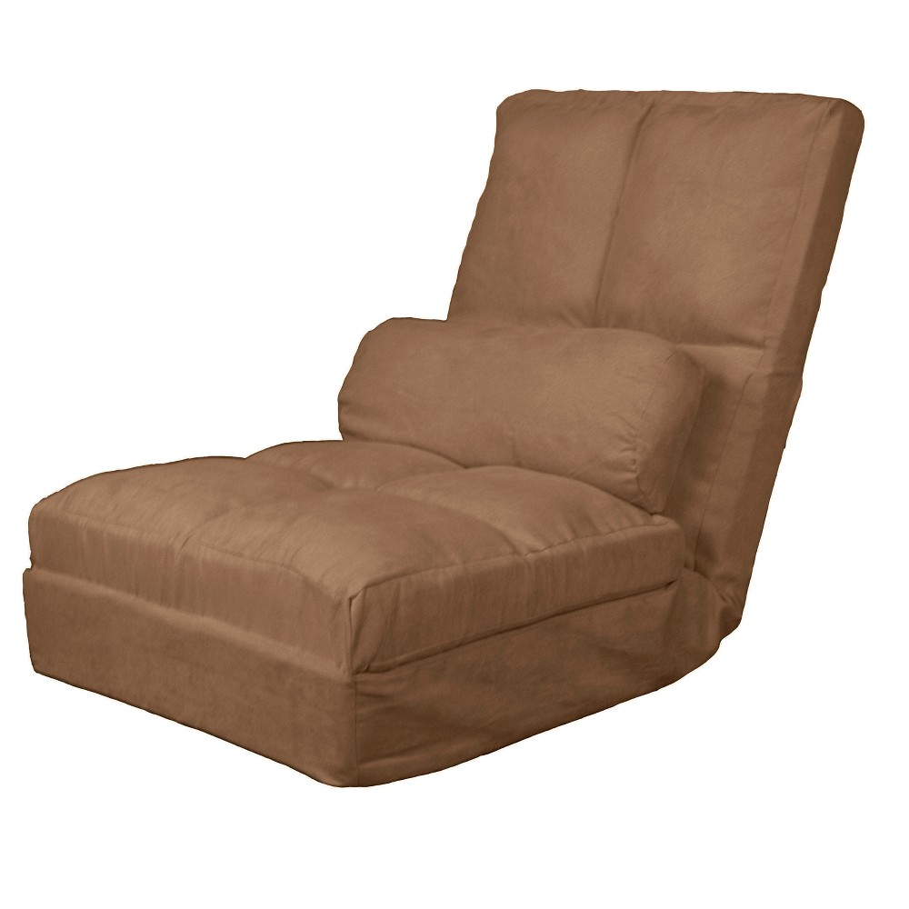 Metro Click Clack Convertible Flip Chair Child-size Sleeper Bed Pecan - Epic Furnishings