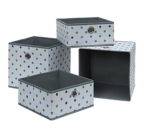 Neu Home Foldable Storage Drawer/Tray 4pc Gray - image 1 of 1