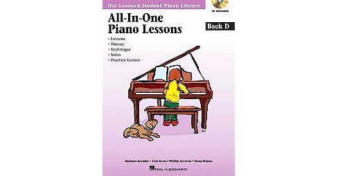 All-in-One Piano Lessons : Book D (Paperback) (Barbara Kreader & Fred Kern & Phillip Keveren & Mona - image 1 of 1