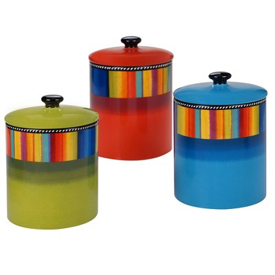 3pc Earthenware Sierra Canister Set - Certified International