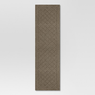 Tan Diamond Tufted and Hooked Washable Runner 2'X7' - Threshold™