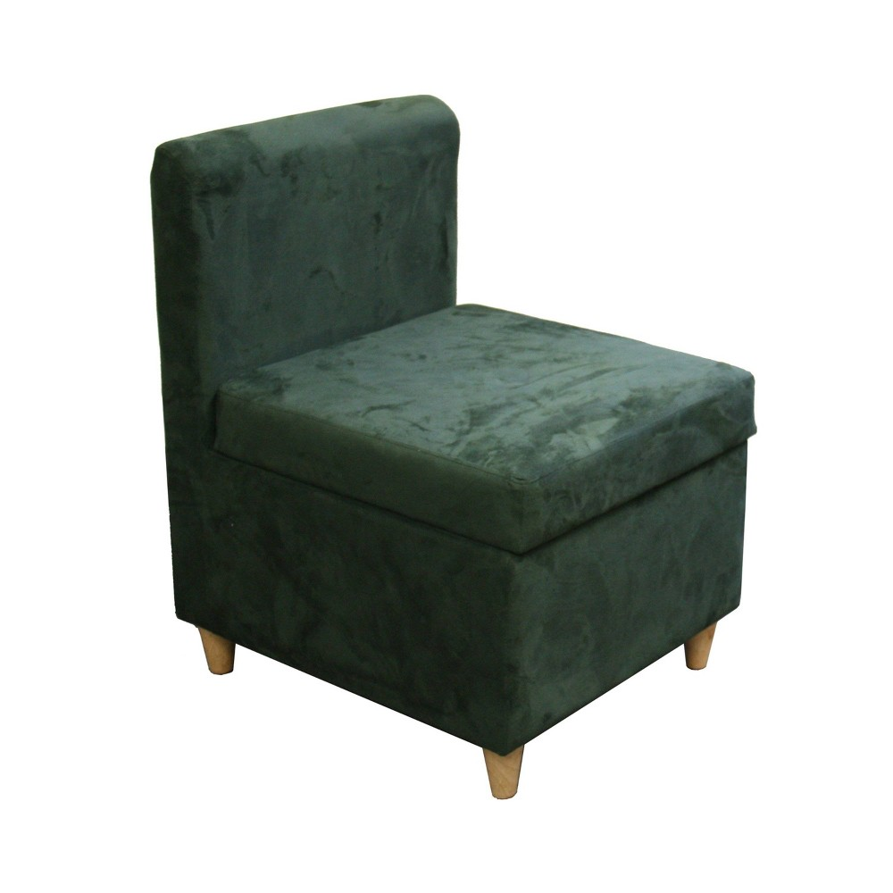Accent Chair with Storage Green - Ore International