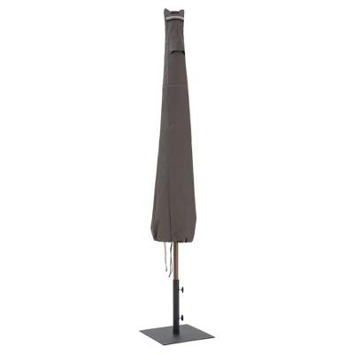 Ravenna Patio Umbrella Cover - 11' DIA Round or 8' Square - Dark Taupe - Classic Accessories