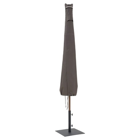 Ravenna Patio Umbrella Cover - 11' DIA Round or 8' Square - Dark Taupe - Classic Accessories - image 1 of 8