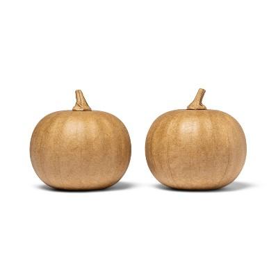 2pk Paper Mache Pumpkins Small - Mondo Llama™