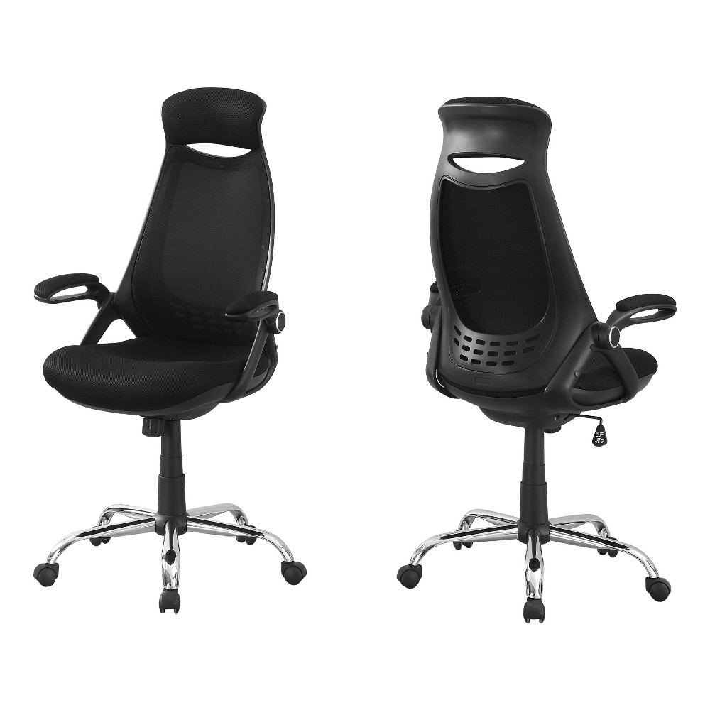 Office Chair - Black Mesh & Chrome - EveryRoom