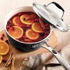 Tramontina Gourmet Ceramica Deluxe 3qt Sauce Pan with Lid Metallic Black - image 3 of 4