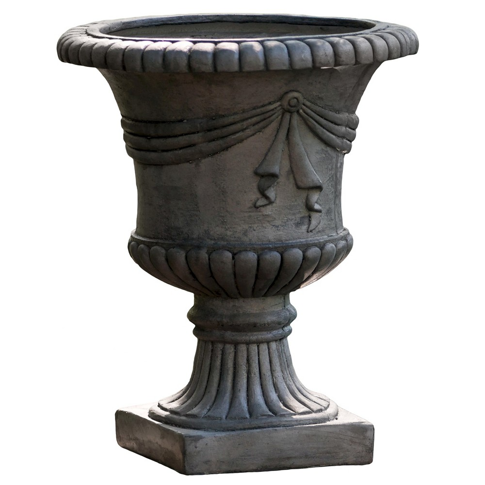Image of 20 Zeus Cast Stone Patio Urn - Gray - Christopher Knight Home