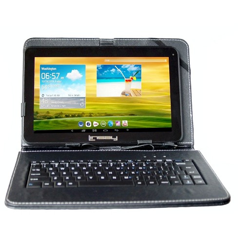 "LINSAY 10.1"" Quad Core Tablet with Black Keyboard 32GB - image 1 of 3"